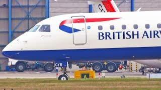 preview picture of video 'Plane Spotting at London City Airport - Part 1 - BA CityFlyer E190 Take Off Landing [1080p HD]'