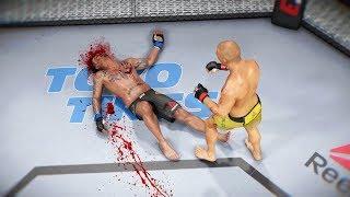 УБИЙСТВО с ПОМОЩЬЮ КОЛЕНА в МИРОВОМ ТОП 10 UFC 3 RANKED НОКАУТЫ