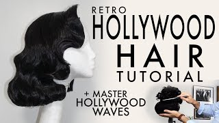 HOLLYWOOD HAIR TUTORIAL + How To Master Hollywood Waves | CASH LAWLESS