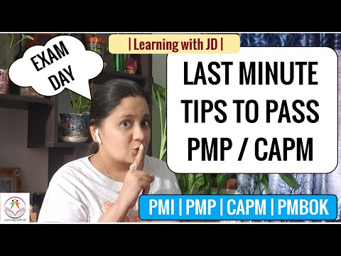 PMP & CAPM EXAM LAST MINUTE TIPS | Pass your ... - YouTube