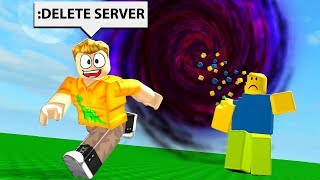 DELETING ROBLOX SERVERS WITH ADMIN COMMANDS