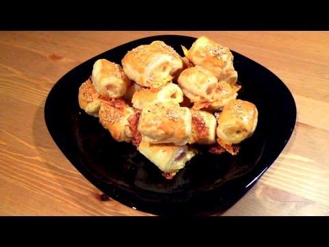 Saladitos de jamón y queso - Recetas fáciles para fiestas