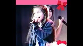 ☆安室奈美恵namieamuro12歳。3人で沖縄アクターズスクール内定期公演にて☆Heartstompinmusicオリジナルはプリンセスプリンセス。