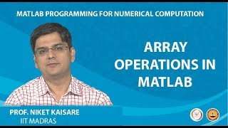 Array Operations In MATLAB