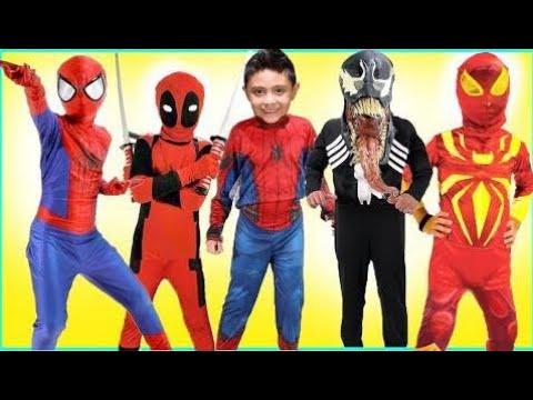 Nuevos Niños Disfraces Desfile De La Pista Spiderman Halloween Disney Maravilla Vestir Juguetes Div