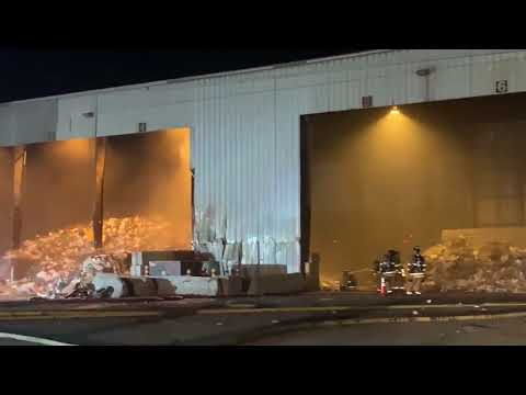 NWFD crews battling fire burning at trash transfer site