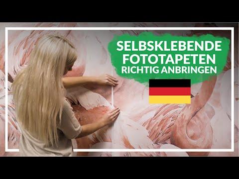 Selbstklebende Fototapeten Richtig Anbringen - Anleitung || ColorayDecor