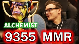 MIRACLE - Alchemist 9355 MMR (NEW WORLD RECORD) - Full Gameplay!