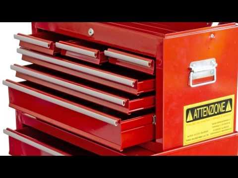 Carrello portautensili porta attrezzi con cassettiera