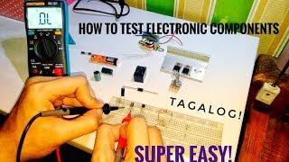 Paano mag check  ng mga Electronics Components  || Testing Electronic Components With DMM  TAGALOG