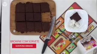 Brownie com Sorvete de Flocos