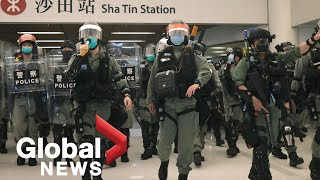 Hong Kong protests: Police storm shopping mall to disperse demonstrators on May Day