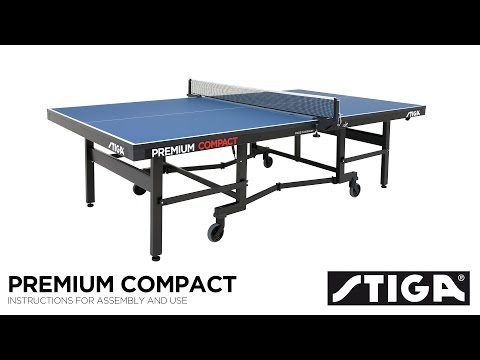 Stiga Premium Compact ITTF Indoor Table Tennis Table Assembly