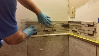 How To Install Mosaic Tile On An Inside Corner - Glass Mosaic Tile