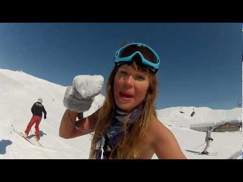 Dasha Dance Bikini Snowboarding/ Georgia-Gudauri