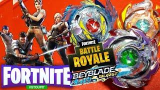 BEYBLADE FORTNITE! BATTLE ROYALE Valtryek V3 VS Roktavor R3 VS Wyvron W3   Beyblade Burst Argentina