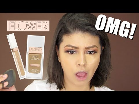 OMG! Flower Beauty Light Illusion Foundation & Concealer | Review