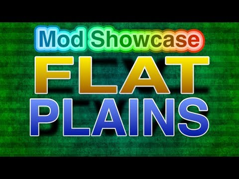 Flat Plains Biome Mod Showcase - Minecraft 1.12.2