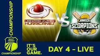 🔴LIVE Leeward Islands vs Jamaica - Day 4 | West Indies Championship | Sunday 15th March 2020