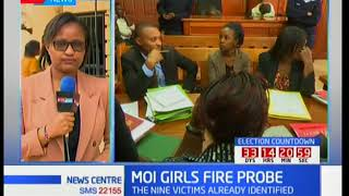 A girl suspected to have started fire in Moi Girls to face charges today 13th September 2017