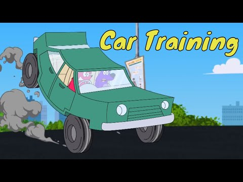 Pyaar Mohabbat Happy Lucky - Ep.32 | Car Training | Hindi Animated Cartoon Show | ZeeQ