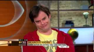 Bill Hader does Charlie Rose impression & Norah O'Donnell laughs hard - CBS This Morning interview