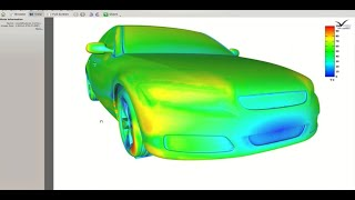 End to end aerodynamics CFD simulation of a car