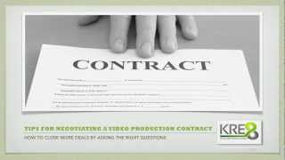 Video Production Contract   Tips for Negotiating a Video Production Contract