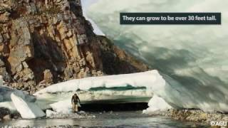 Arctic river ice deposits rapidly disappearing