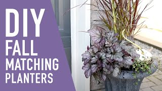 DIY Matching Fall Planters 🧡❤️💜  || West Coast Gardens