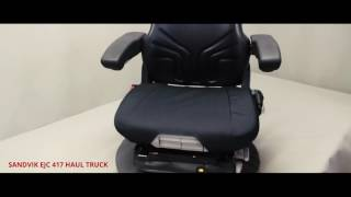 Sandvik® EJC 417 Underground Haul Truck Seat Covers
