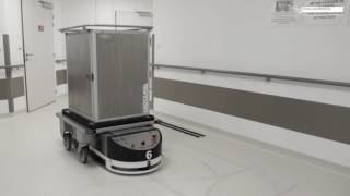 Mobile Robots (AGVs) in Hospital - Natural Navigation