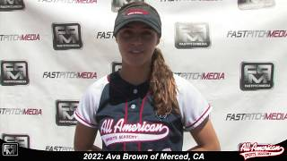 2022 Ava Brown Pitcher and Outfield Softball Player Skills Video - AASA Pikas