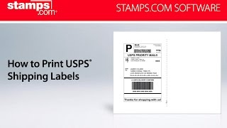 Stamps.com - How to Print USPS Shipping Labels