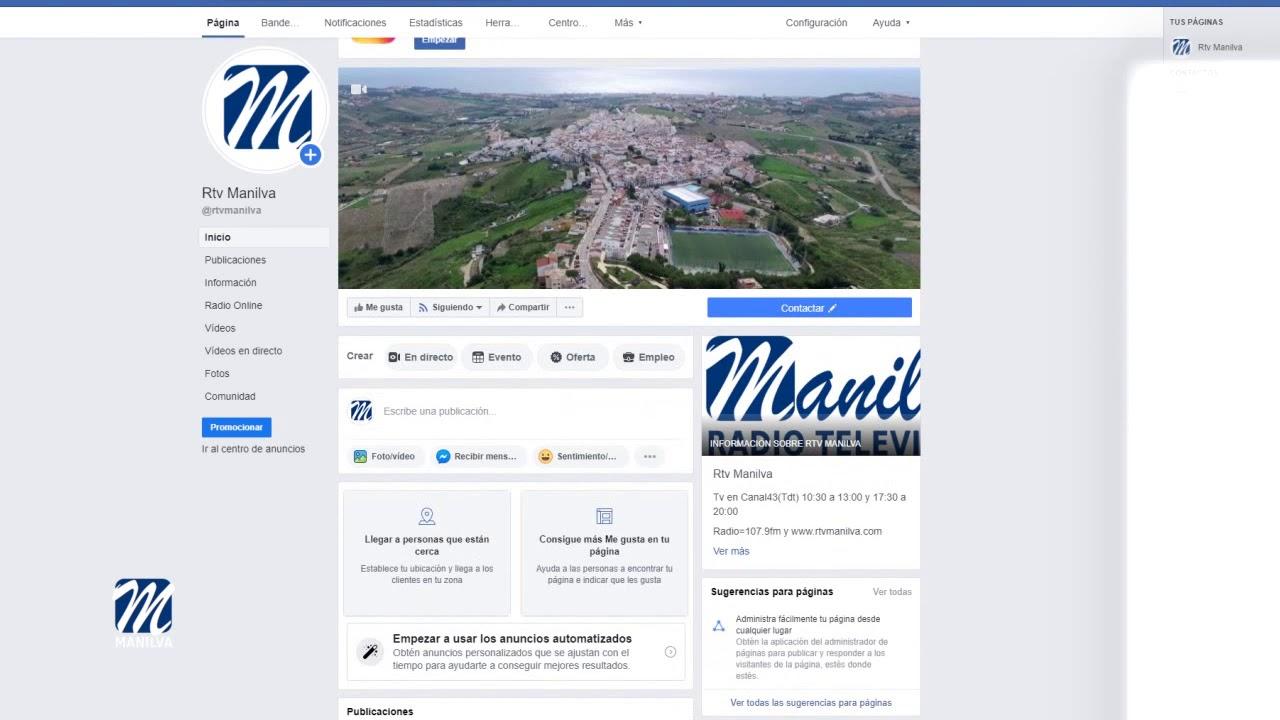 RTV MANILVA COMIENZA LA EMISIÓN EN DIRECTO A TRAVÉS DE SUS REDES SOCIALES
