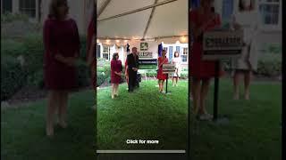 """""""Beloved"""" Book Banner Introduces Karen Pence at Ed Gillespie Fundraiser (9/18/17)"""