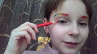 Макияж цветными карандашами...