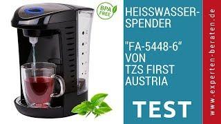 """► Unboxing- und Test-Video des Heißwasserspenders """"FA-5448-6"""" von TZS First Austria auf Deutsch ☑"""