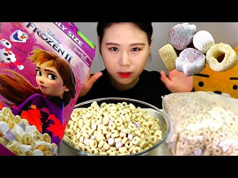 겨울왕국 시리얼 Frozen Cereal 먹방 Mukbang Eating Sound
