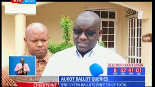 Ekuru Aukot on extra ballot papers