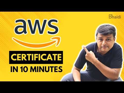 AWS Free Certification Courses | Get Certificate Within 10 Mins ...