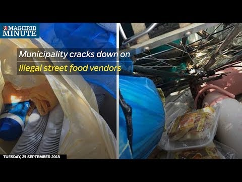 Municipality cracks down on illegal street food vendors