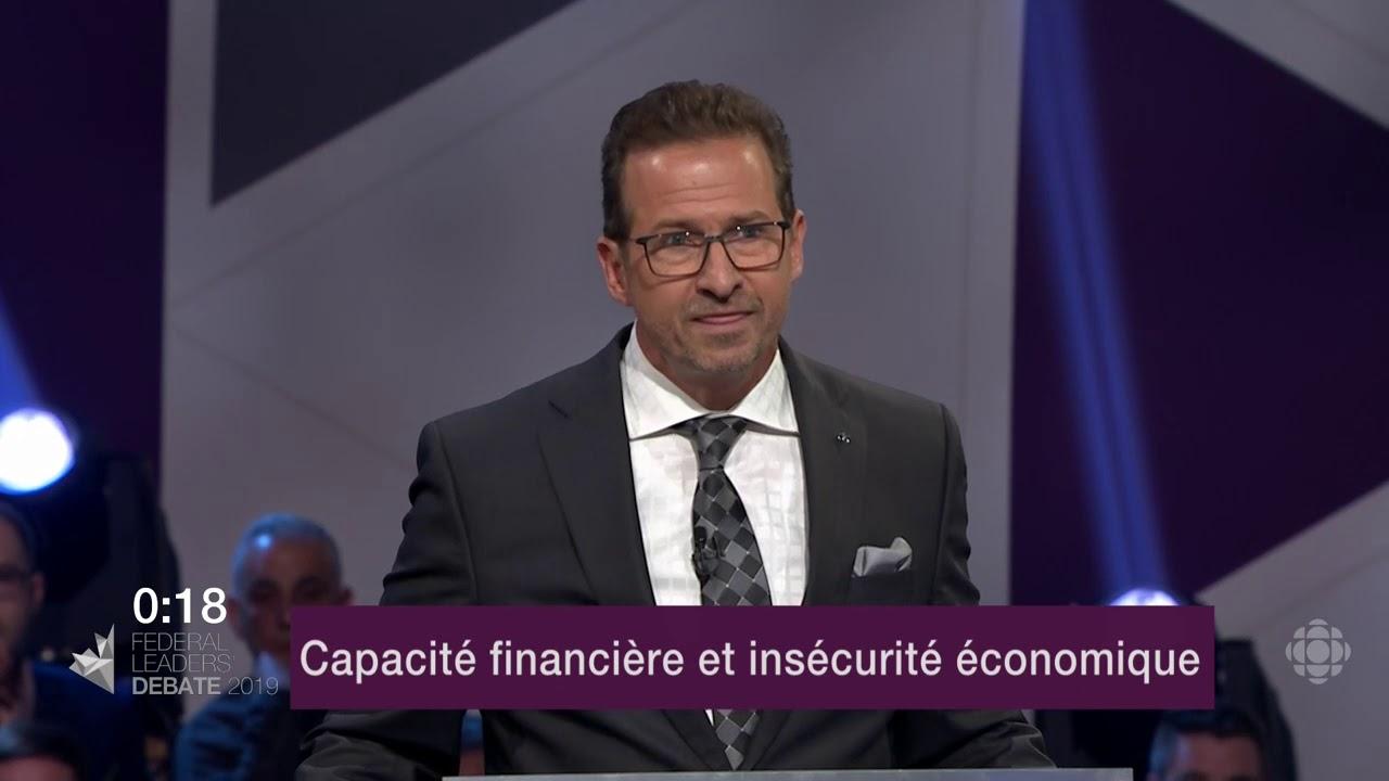 Yves-François Blanchet répond à une question du modérateur sur la péréquation