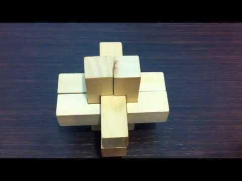 Soluzione giochi ad incastro,puzzle di legno il nodo del diavolo, wooden puzzle