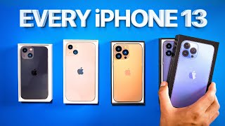 Apple iPhone 13 - UNBOXING ALL OF THEM