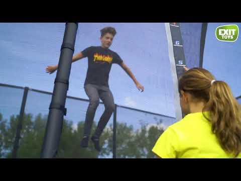 EXIT PeakPro 244x427 cm zwart trampoline