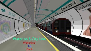 preview picture of video 'Openbve- Waterloo and City Line Waterloo to Bank'