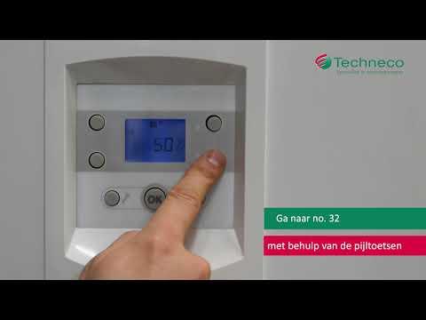 Configureren van de Loria en Honeywell Touch thermostaat