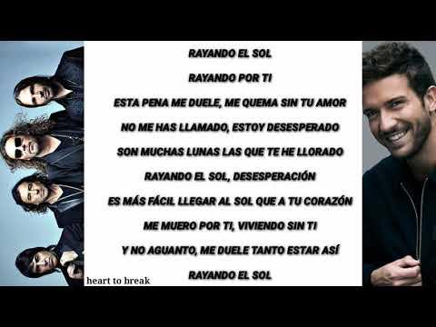 Maná Feat Pablo Alborán Rayando El Sol Letra
