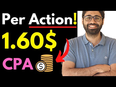 1.6$ Per Action (CPA Marketing Tutorial For Beginners)